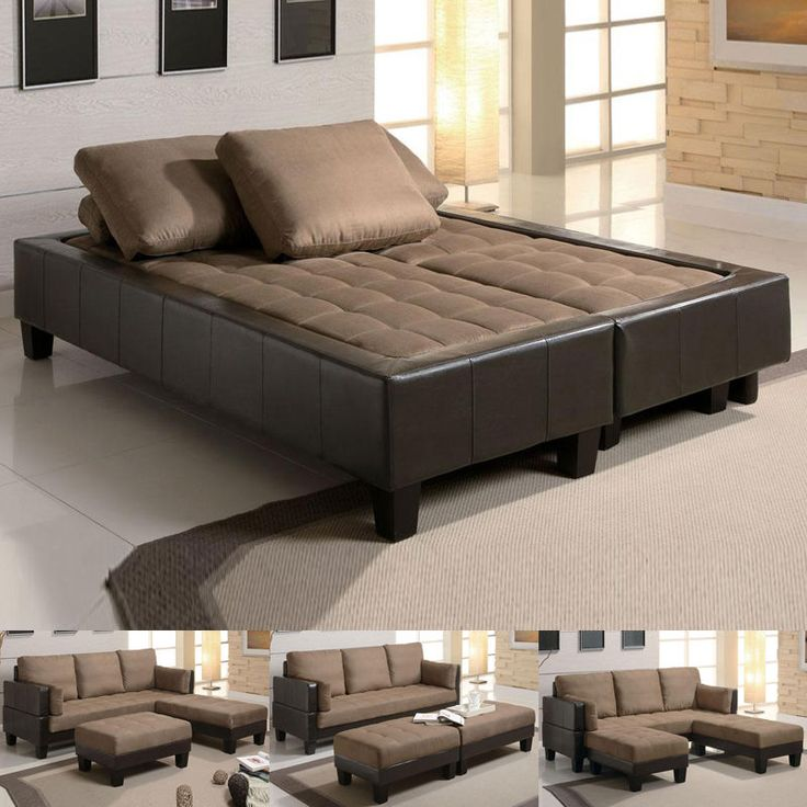 Lovable Futon Sectional Sleeper Sofa Best 25 Sofa With Bed Ideas On Pinterest Sofa Couch Bed Sofa