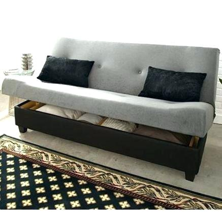 Lovable Futon Sofa Bed With Storage Futon Sofa Sleeper Wowkajabiph