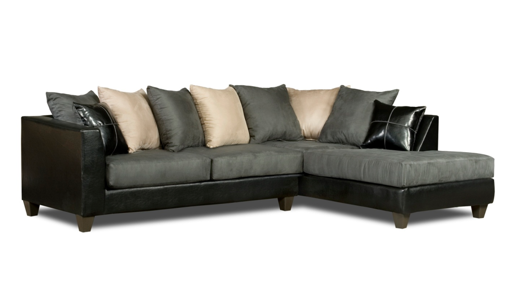 Lovable Grey Microfiber Sectional With Chaise Sofa Beds Design Marvelous Modern Black Microfiber Sectional Sofa