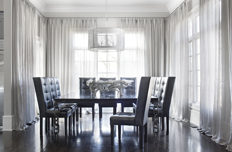 Lovable Grey Tufted Dining Room Chairs Black Tufted Dining Chair Contemporary Dining Room Sarah Dorio