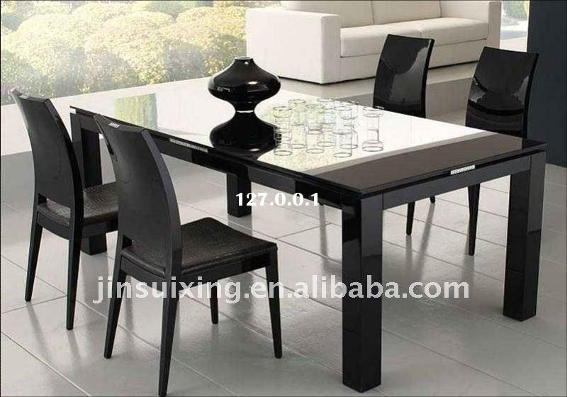 Lovable High Dining Table Ikea Contemporary Dining Room Design With Black High Gloss Dining Table