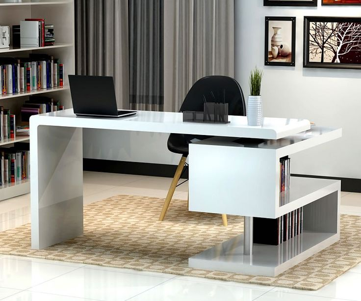 Lovable Home Office Computer Table Stunning Modern Home Office Desks With Unique White Glossy Desk
