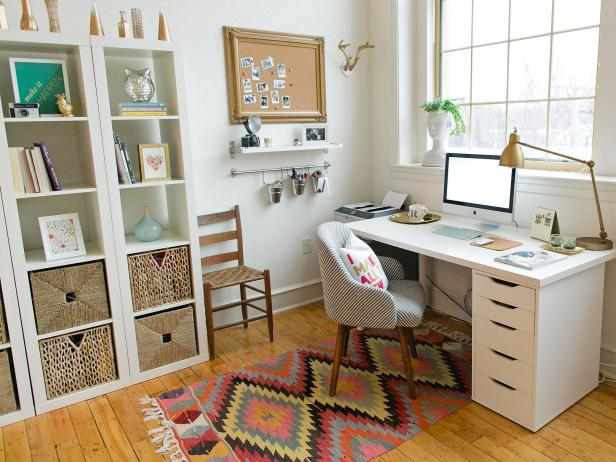 Lovable Home Office Ideas 5 Quick Tips For Home Office Organization Hgtv