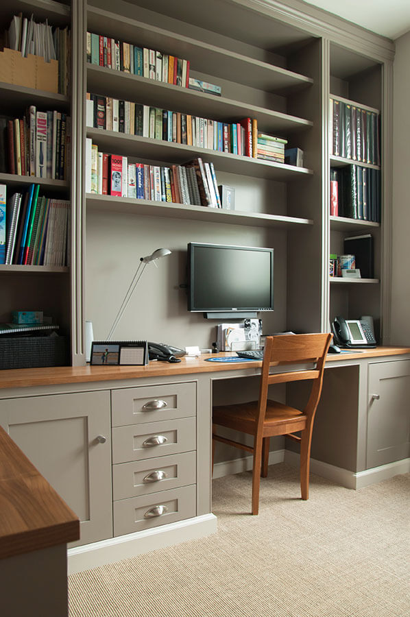 Lovable Home Office Shelving Made To Measure Home Offices Desks Drawers And Shelves