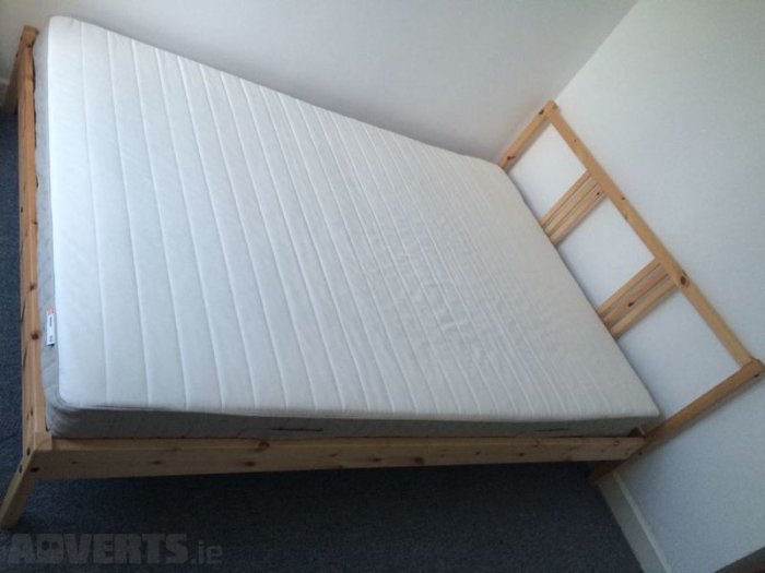 Lovable Ikea Double Bed Mattress Ikea Fjellse Double Bed And Hafslo Spring Mattress For Sale In