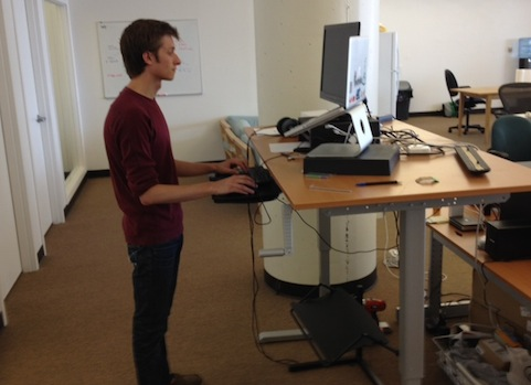 Lovable Ikea Raised Desk Hack A Standing Desk From Ikea