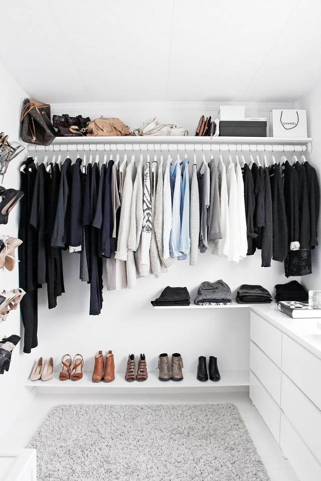 Lovable Ikea Small Walk In Closet 75 Cool Walk In Closet Design Ideas Shelterness
