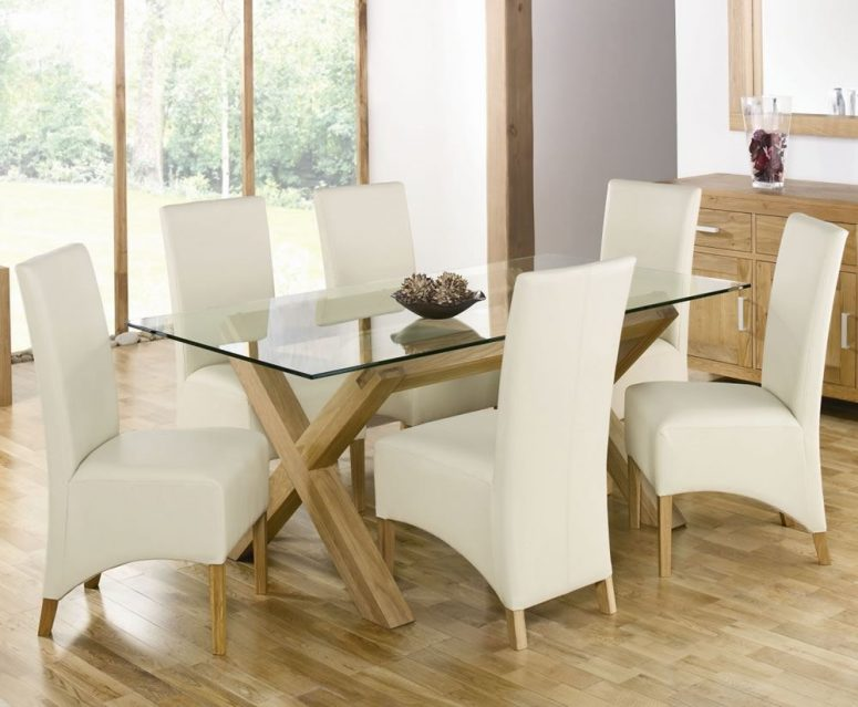 Lovable Ivory Kitchen Chairs Rectangle Glass Dining Room Table Ivory Shade Chandelier White