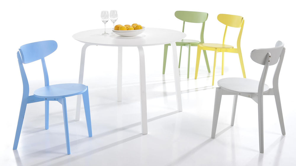 Lovable Kitchen And Chairs Colourful Kitchen Chairs Bright Painted Wood Only 45 Uk