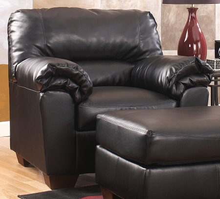 Lovable Leather Chair And Ottoman Black Leather Chair Ottoman