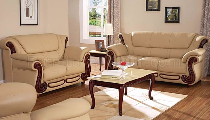 Lovable Leather Sofa And Loveseat Beige Color Leather Sofa Loveseat Elegant Living Room Set
