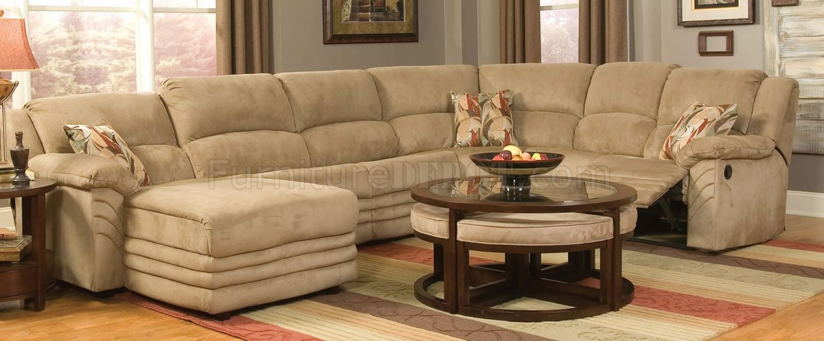 Lovable Microfiber Reclining Sectional With Chaise Microfiber Cozy Sectional Wreclining Chaise
