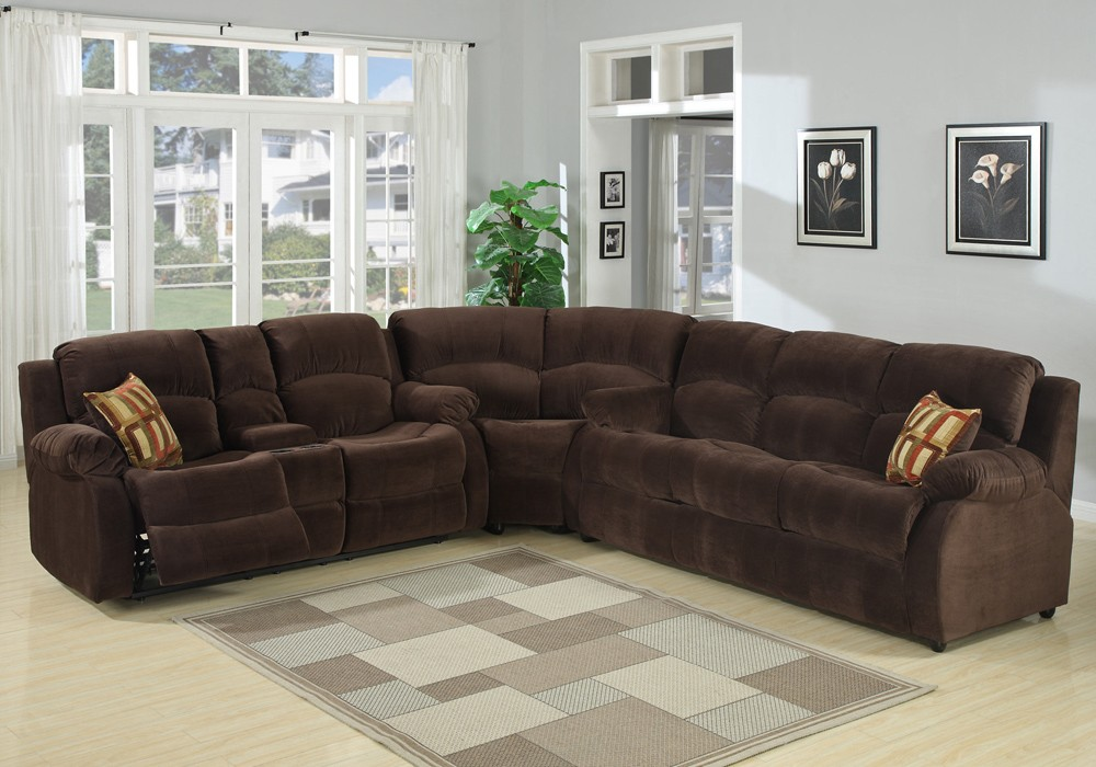 Lovable Microfiber Reclining Sectional With Chaise Tracey Recliner Sleeper Sectional Sofa S3net Sectional Sofas