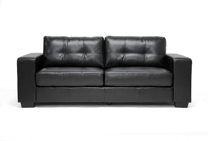 Lovable Modern Black Leather Couch Sofa Fabulous Modern Black Leather Sofa Couch Modern Black