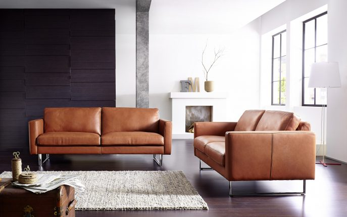 Lovable Modern Brown Leather Sofa Sofa Extraordinary Modern Brown Leather Sofa Contemporary Sofas