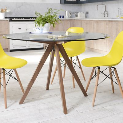 Lovable Modern Glass Round Dining Table Give Your Dining Area A Touch With Beautiful Round Glass Dining