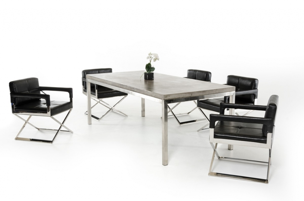 Lovable Modern Rectangular Dining Table Concrete Chrome Rectangular Dining Table Modern
