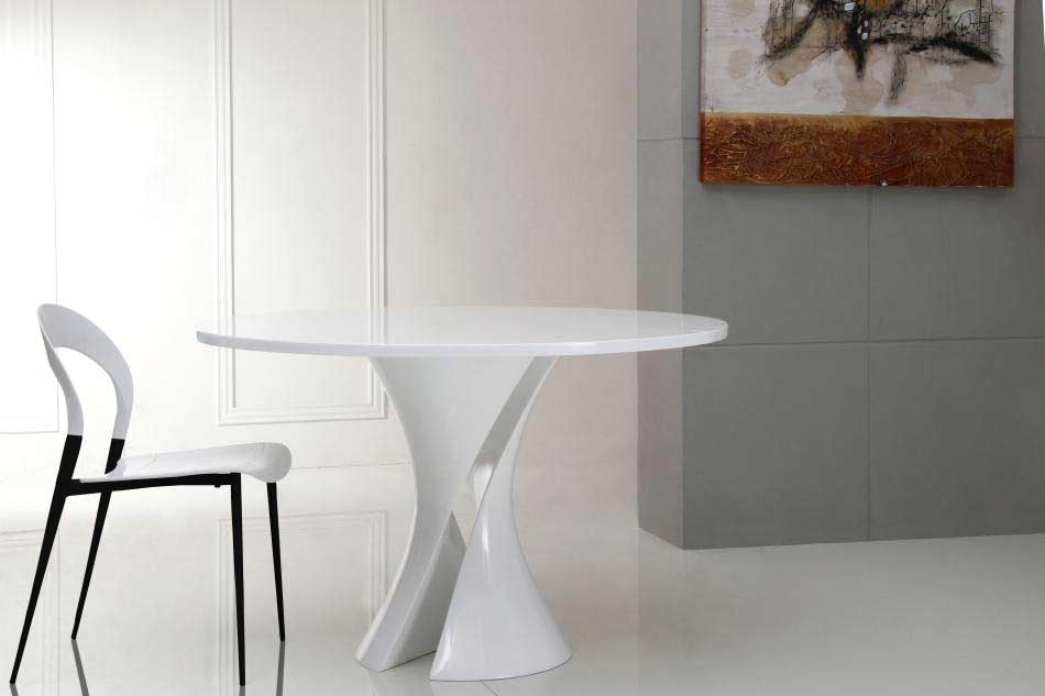 Lovable Modern Round White Dining Table Modern White Lacquer Round Dining Table Vg Curves Modern Dining