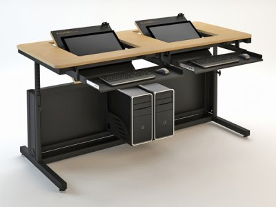 Lovable Monitor In Desk Revolution Table Rst Education Versatables