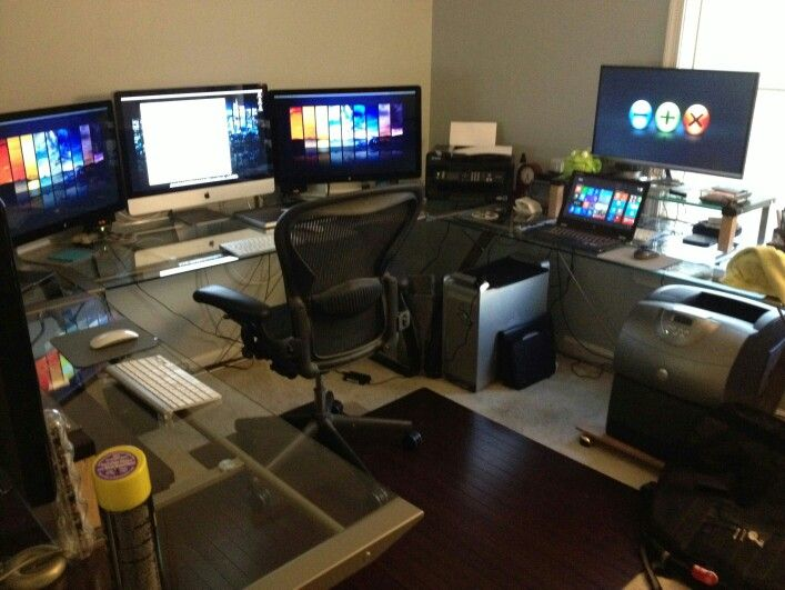 Lovable Multi Monitor Desk 355 Best Multiple Monitor Pc Desk Images On Pinterest Computer