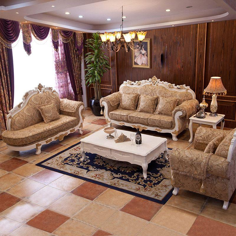 Lovable New Style Sofa Set Online Cheap The New European Style Wood Sofa Size Apartment