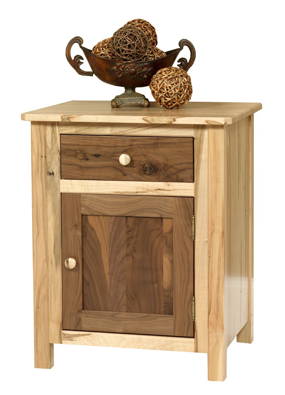 Lovable Nightstand With Door And Drawer Cornwell 1 Door 1 Drawer Nightstand Ohio Hardword Upholstered