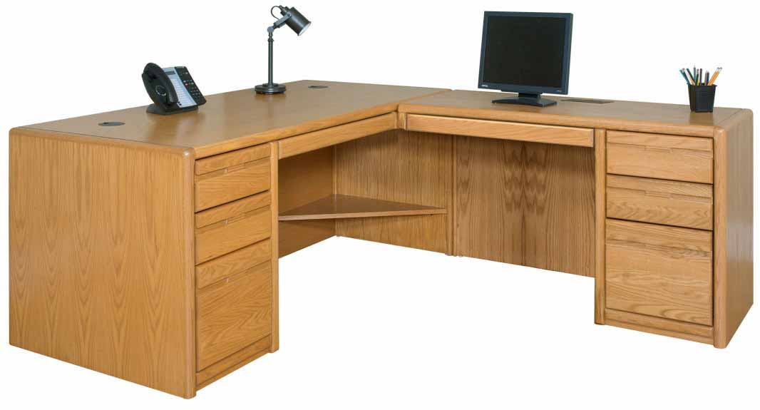 Lovable Oak Office Furniture Choose From Matching Pieces Furnish Your Entire Office