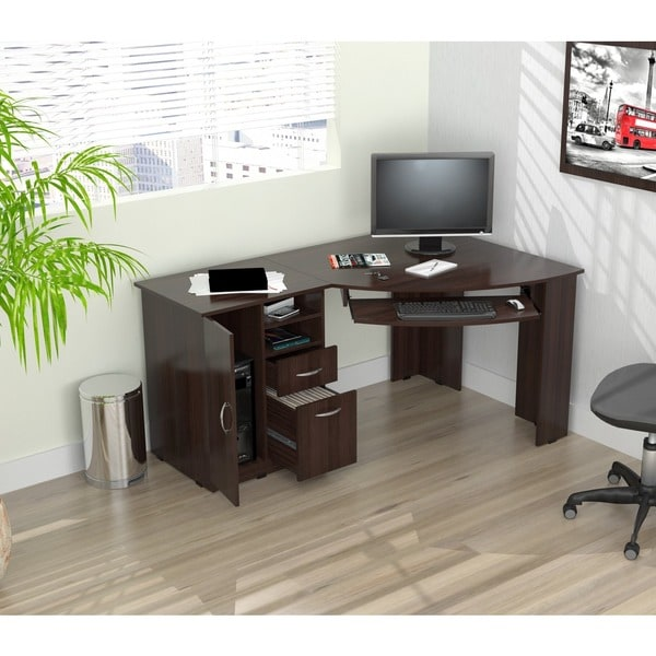 Lovable Office Workstation Computer Inval Workstation Computer Desk Free Shipping Today Overstock