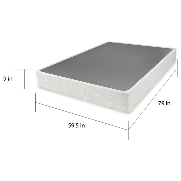 Lovable Queen Size Mattress Foundation Priage 9 Inch Easy To Assemble Box Spring Mattress Foundation