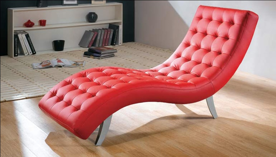 Lovable Red Leather Chaise Lounge Chair Leather Chaise Lounge Chair Med Art Home Design Posters