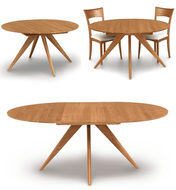 Lovable Round Extendable Dining Table Attractive Round Extendable Dining Table Round Extending Dining