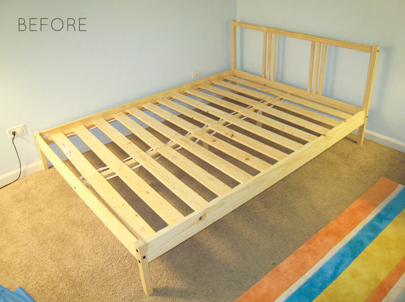 Lovable Single Wooden Bed Frames Ikea Ikea Hack How To Upholster A Fjellse Bed Frame Emmerson And
