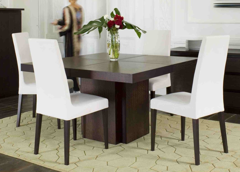 Lovable Square Dining Room Table For 4 Tahoe Ii 58 Inch Square Dining Table Living Spaces Regarding