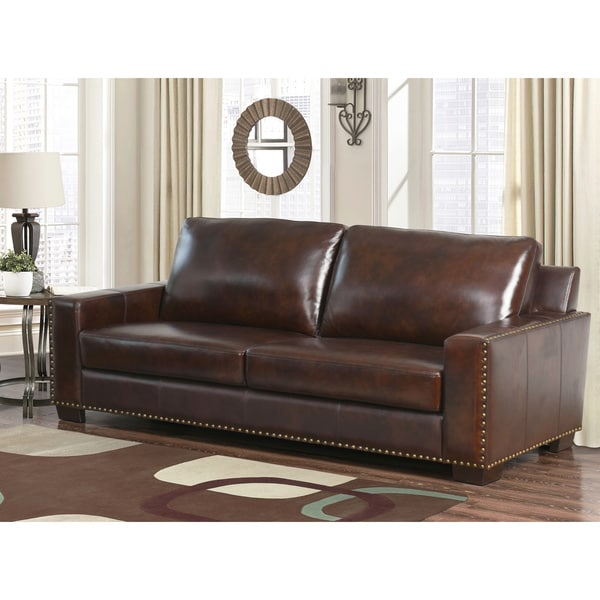 Lovable Top Grain Leather Sofa Abson Barrington Top Grain Leather Sofa Free Shipping Today