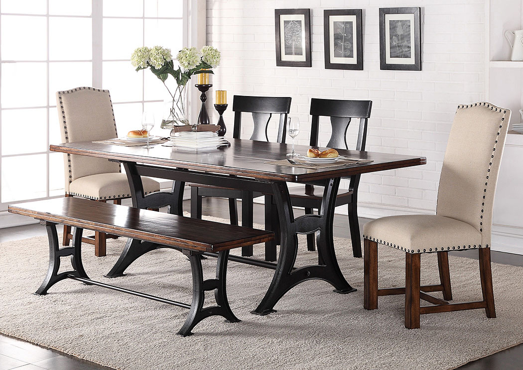 Lovable Upholstered Dining Room End Chairs Fremins Furniture Astor Rectangular Dining Table W2 Wood 2