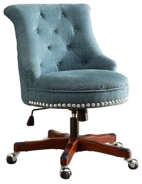 Lovable Upholstered Office Chair Upholstered Office Chairs Houzz