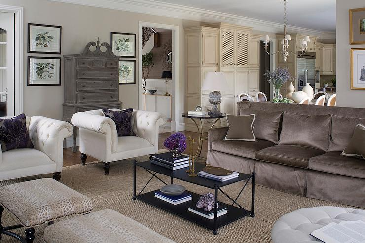 Lovable White Accent Chairs Living Room Furniture Brown Sofa With White Accent Chairs Transitional Living Room