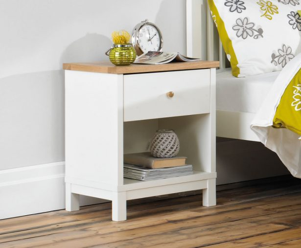 Lovable White And Brown Nightstand Awesome 1 Drawer Nightstand Furniture Set Nightstand Drawer Lock