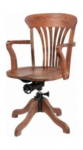 Lovable Wooden Office Chair Wooden Swivel Office Chair Foter