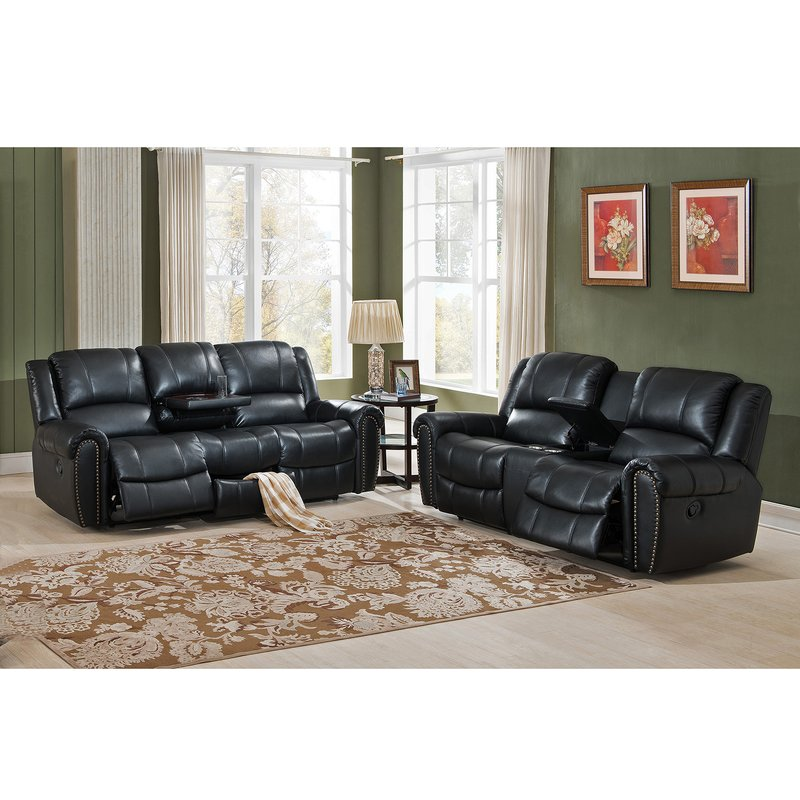Nice 2 Piece Leather Living Room Set Amax Houston 2 Piece Leather Living Room Set Wayfair