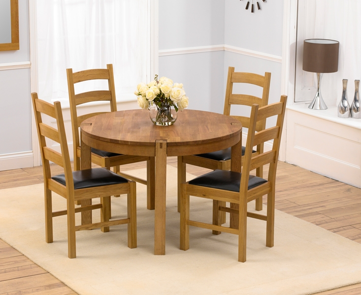Nice 4 Wooden Dining Chairs Round Wood Dining Table For 4 Insurserviceonline