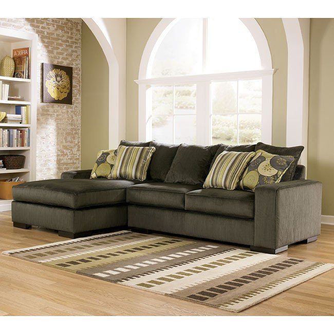 Nice Ashley Furniture Corduroy Couch Freestyle Pewter Left Facing Chaise Sectional Signature Design