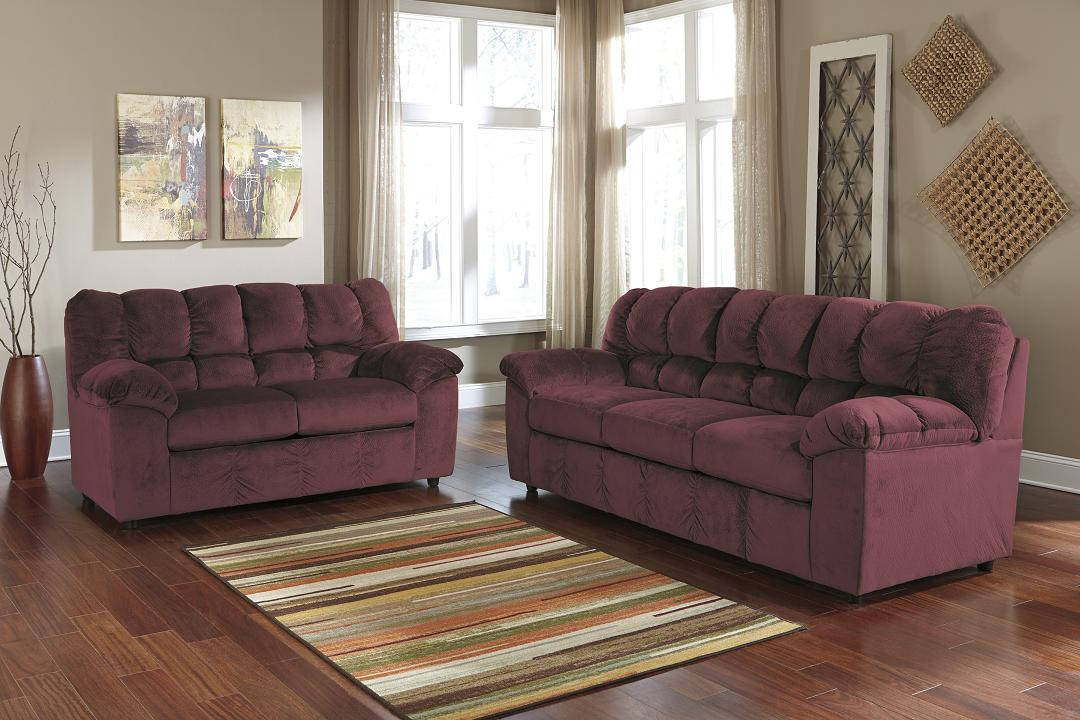 Nice Ashley Furniture Leather Loveseat Living Rooms At Mattress And Furniture Super Center