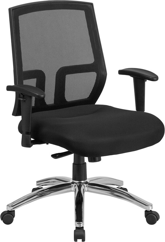 Nice Big And Tall Office Chairs Hercules Series Big Tall 400 Lb Rated Black Mesh Mid Back