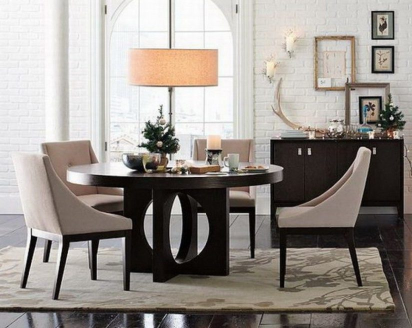 Nice Black And Cream Dining Chairs Ikea Dining Room Table And Chairs Rectangular Brown Varnished
