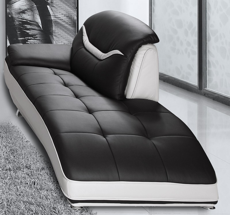 Nice Black And White Chaise Bentley Modern Black And White Sofa Set