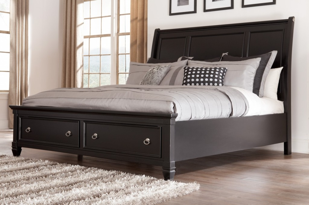 Nice Black King Bed Frame Black California King Bed Frame With Drawers Vineyard King Bed