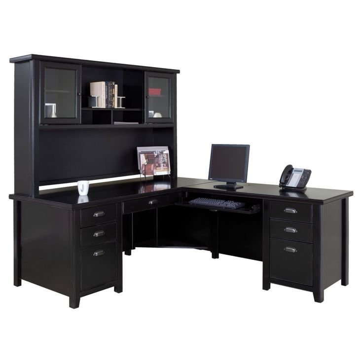 Nice Black L Shaped Desk Best 25 L Shaped Desk Ideas On Pinterest Office Desks Desks