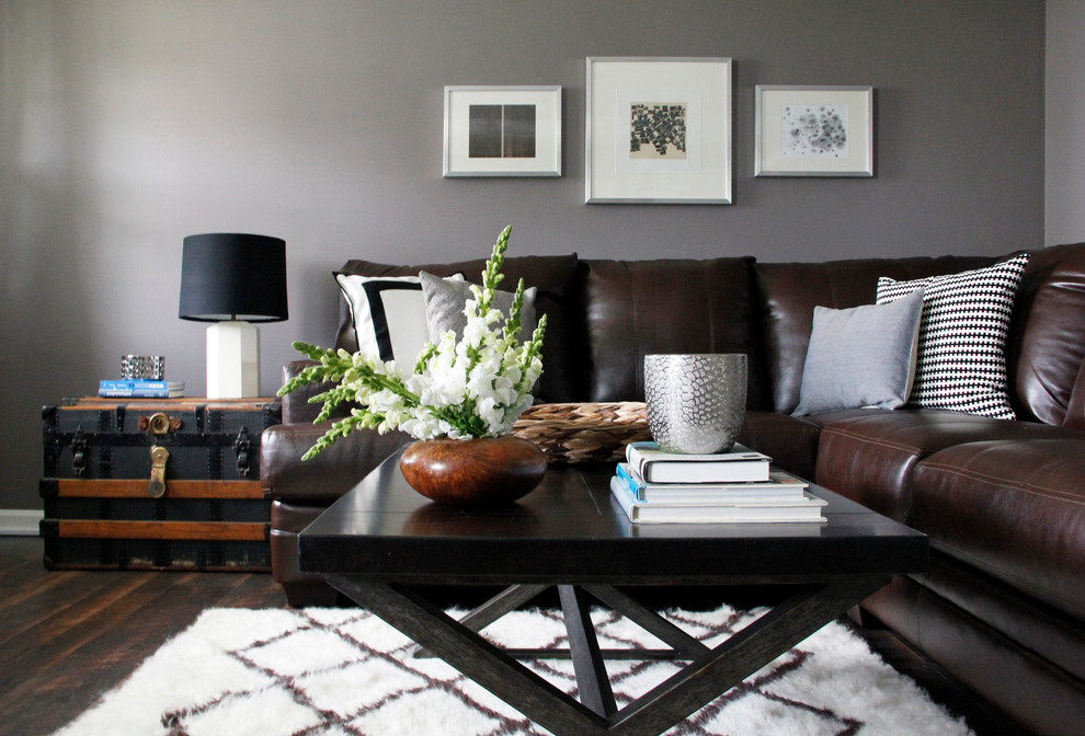 Nice Brown And Grey Sofa Abson Living In Living Room Contemporary With Brown Sofa Next To