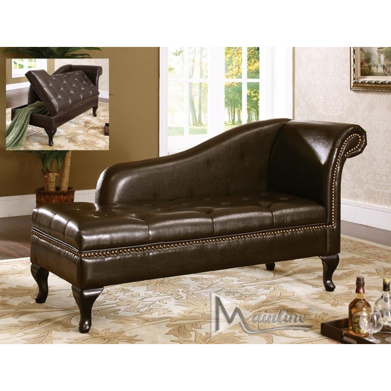 Nice Brown Leather Chaise Longue Lounge Sofa Leather Chaise Chair With Arms Ciov Regard To New